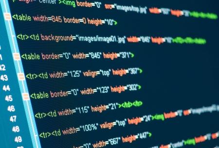 HTML code on lcd screen