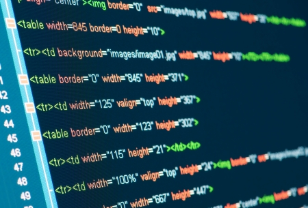 HTML code on lcd screen Stock Photo - 16487280