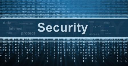 개인 정보 보호: 보안 개념입니다. 이진 코드, 기술 배경
