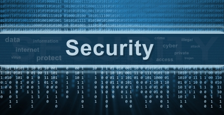 lösenord: Säkerhetskoncept. Binär kod, teknik bakgrund