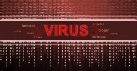 computer virus detection. Spyware concept Stock Photo - 17072938