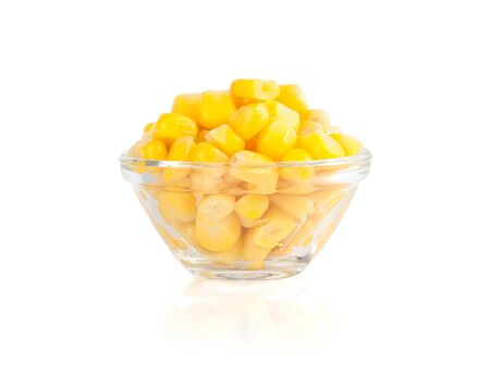 tinned: tinned corn isolated on white