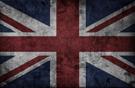 bandiera inglese: Grunge Regno Unito bandiera nazionale