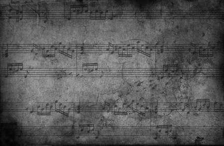 Music notes. grunge background  photo