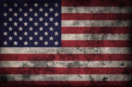 Grunge USA flag background photo