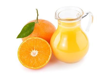 sector: orange juice isolated on white Stock Photo