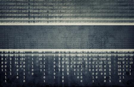추상 블루 컴퓨터 기술 배경
