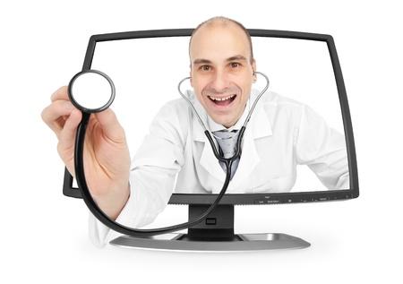 internet medical doctor Stock Photo
