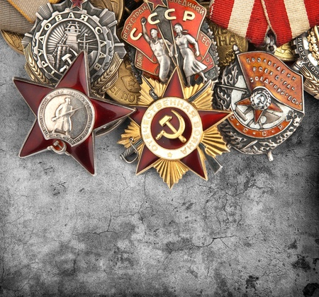 world war ii: World War II Russian military medals Stock Photo