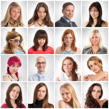 Sourire Portraits Banque d'images