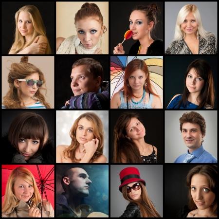 Collection de portraits Banque d'images