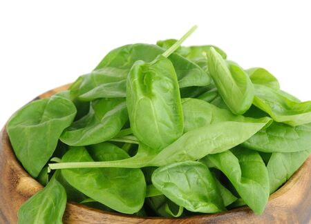 Fresh leaves of spinach photo