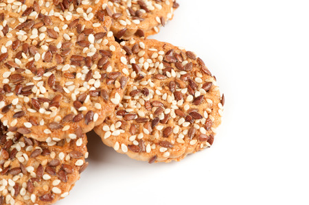 cookie with sunflower and sesame seeds photo