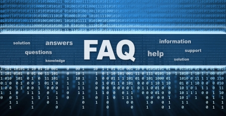 summaries: FAQ conceptual design. Questions and answers message Stock Photo