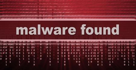 virus informatico: malware. signo de advertencia de virus informático