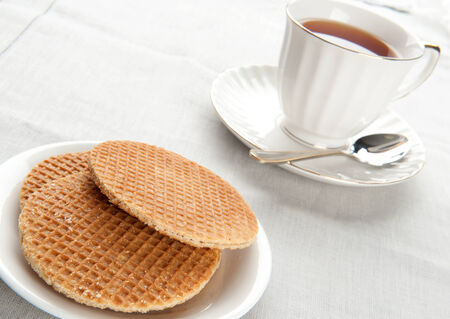 morning breakfast: Morning breakfast with waffles