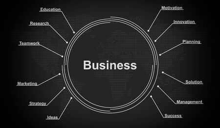 business strategy plan concept Stock Photo