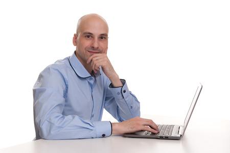 business man laptop: hombre de negocios laptop Foto de archivo