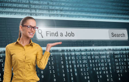 find a job: Find a job concept Stock Photo