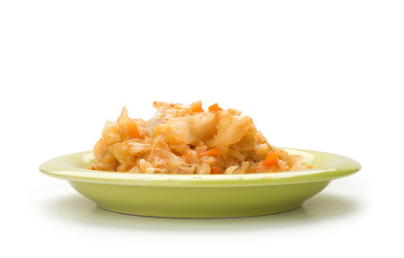 carot: stewed cabbage with chicken, Onion, and carot