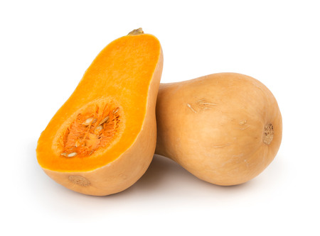 Butternut squash isolated on white background 版權商用圖片