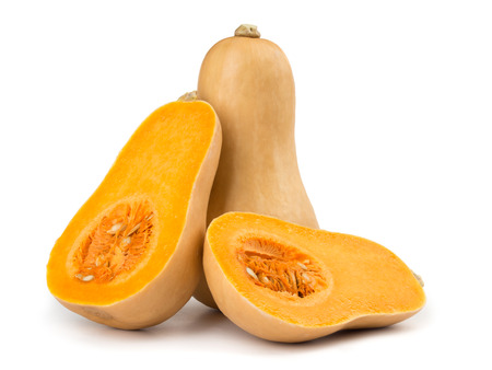 Butternut squash isolated on white background 스톡 콘텐츠