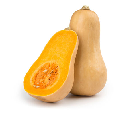 Fresh butternut squash isolated on a white background 스톡 콘텐츠