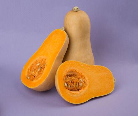 close up of Fresh orange Butternut squash Stock Photo