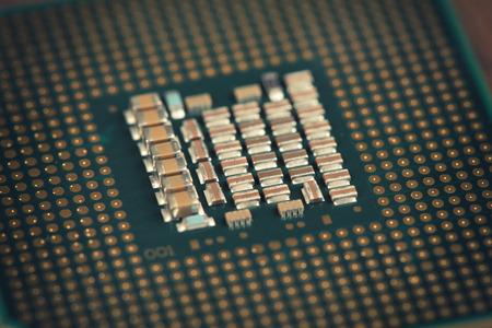 computer cpu: Technology. close up of Computer CPU Chip.