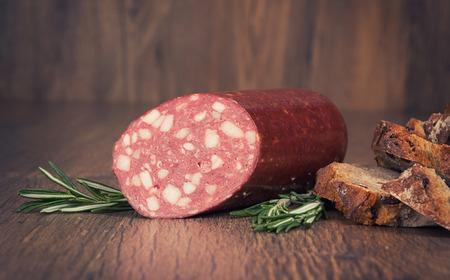 smoked sausage: Smoked sausage with rosemary