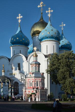 lavra: church in the Trinity Sergius Lavra in Sergiev Posad. Russian Federation. Stock Photo