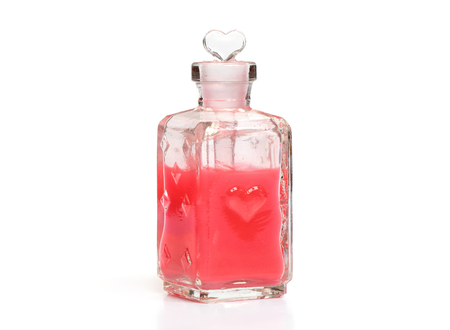 magical equipment: love potion isolated on a white background Stock Photo