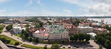 vyborg: Panorama view of the Old City. Vyborg, Russia. Stock Photo