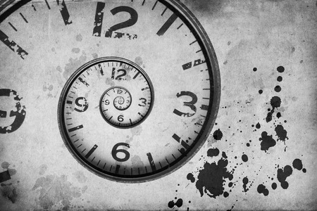 Close up of a vintage Rusty clock swirl