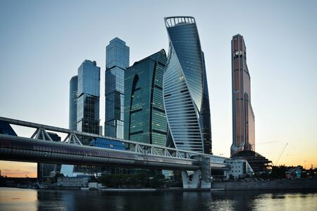 referred: MOSCOW - August 04, 2016: Skyscrapers of Moscow city business center. Moscow International Business Center also referred to as Moscow-City