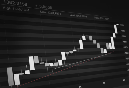 stock market quote: candle stock chart concept