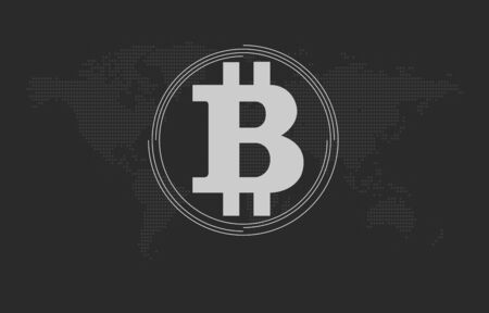 electronic background: Electronic money concept. Cryptocurrency. Bitcoin symbol background