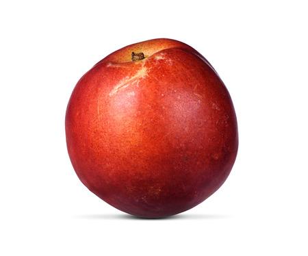whole peach fruit isolated on white background photo