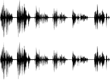 Sound wave isolated on white background Imagens