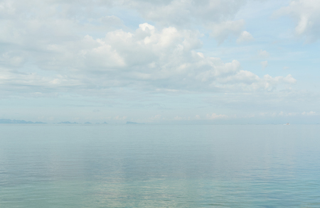 sea haze. cloudy sky and sea in pastel colors Stock Photo