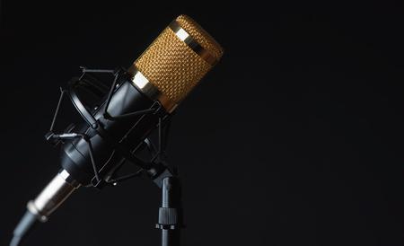 sound recording studio. Moc isolated on black Stock fotó - 121855072