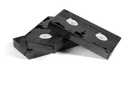 VHS video tape isolated on white background.
