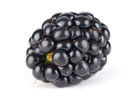 Ripe blackberry isolated on white background with clipping path.