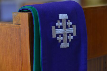 Purple stole used for confessions,