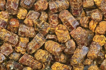ambrosia: Natural beebread granules macro image Stock Photo