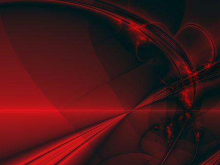 cruz roja: Los rayos de color rojo brillante sobre fondo negro, generados por ordenador de im�genes fractales