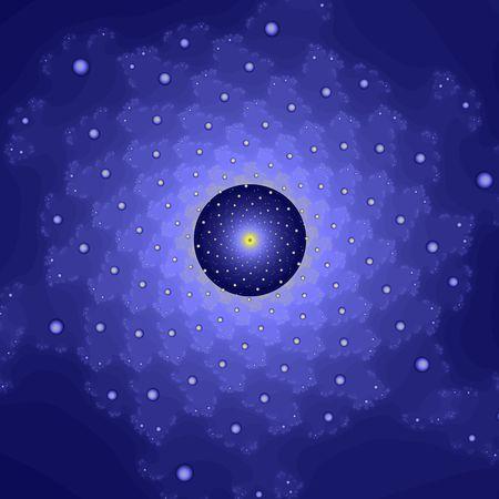 microcosm: Quasi-atomic structure, computer-generated image