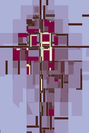 Suprematism-style art, computer-generated image