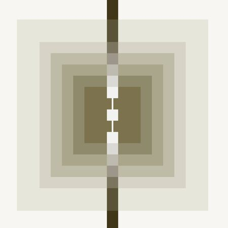 Abstract squares and lines. Computer-generated image