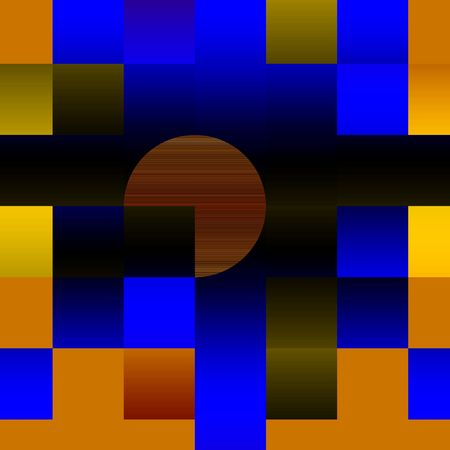 Sunset in suprematism style. Computer-generated image